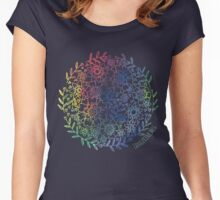 Rainbow Flowers Women's Fitted Scoop T-Shirt