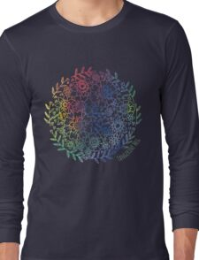 Rainbow Flowers Long Sleeve T-Shirt