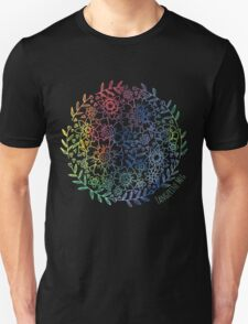 Rainbow Flowers Unisex T-Shirt