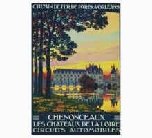 Chenonceaux, French Travel Poster One Piece - Long Sleeve