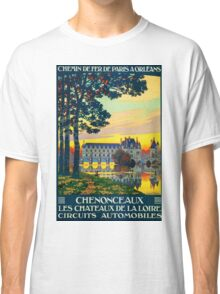 Chenonceaux, French Travel Poster Classic T-Shirt