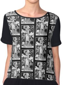 The Tower Tarot Card - Major Arcana - fortune telling - occult Chiffon Top