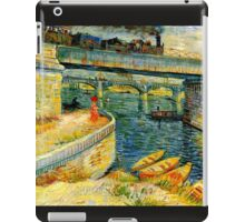 bridges across the seine at asnieres iPad Case/Skin