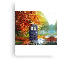 starry  autumn blue phone Canvas Print