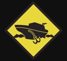 DANGER warning sign Cruise liner boat crossing Kids Tee