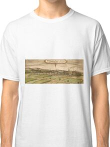 Bruhl Vintage map.Geography Germany ,city view,building,political,Lithography,historical fashion,geo design,Cartography,Country,Science,history,urban Classic T-Shirt