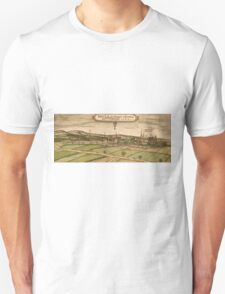 Bruhl Vintage map.Geography Germany ,city view,building,political,Lithography,historical fashion,geo design,Cartography,Country,Science,history,urban Unisex T-Shirt