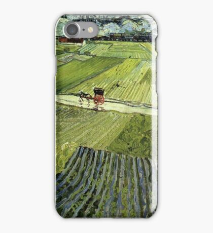 Landscape with Carriages Van Gogh iPhone Case/Skin