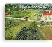 Landscape with Carriages Van Gogh Canvas Print