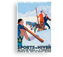 Sports D'Hiver, French Travel Poster Canvas Print