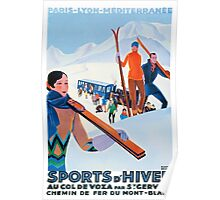 Sports D'Hiver, French Travel Poster Poster