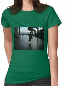 Skating under the sun Womens Fitted T-Shirt