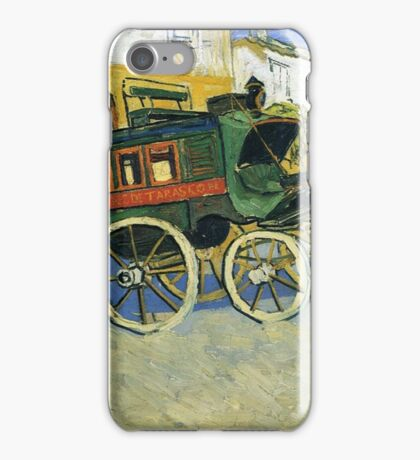 Van Gogh painting of carriages iPhone Case/Skin