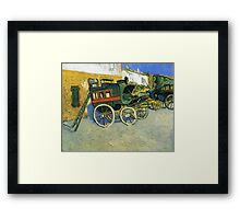 Van Gogh painting of carriages Framed Print