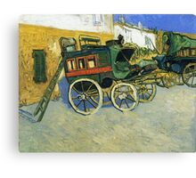 Van Gogh painting of carriages Canvas Print
