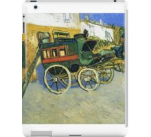 Van Gogh painting of carriages iPad Case/Skin