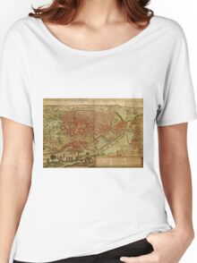 Cairo Vintage map.Geography Egypt ,city view,building,political,Lithography,historical fashion,geo design,Cartography,Country,Science,history,urban Women's Relaxed Fit T-Shirt