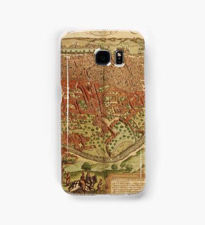 Cairo Vintage map.Geography Egypt ,city view,building,political,Lithography,historical fashion,geo design,Cartography,Country,Science,history,urban Samsung Galaxy Case/Skin