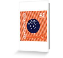 Decca Vintage Record Sleeve Vector Greeting Card