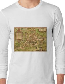 Cambridge Vintage map.Geography Great Britain ,city view,building,political,Lithography,historical fashion,geo design,Cartography,Country,Science,history,urban Long Sleeve T-Shirt
