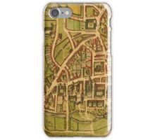 Cambridge Vintage map.Geography Great Britain ,city view,building,political,Lithography,historical fashion,geo design,Cartography,Country,Science,history,urban iPhone Case/Skin
