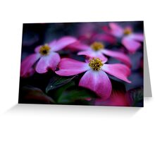 Japanese Flowers Greeting Card