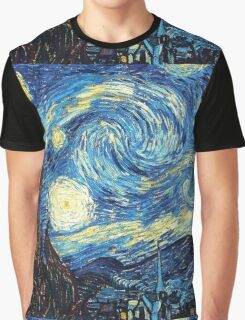 The Starry Night Vincent Van Gogh Graphic T-Shirt