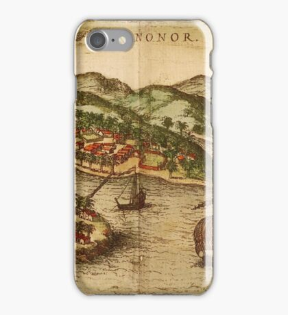 Cannonor Vintage map.Geography France ,city view,building,political,Lithography,historical fashion,geo design,Cartography,Country,Science,history,urban iPhone Case/Skin