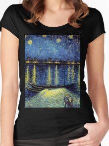 Vincent Van Gogh painting Women's Fitted Scoop T-Shirt