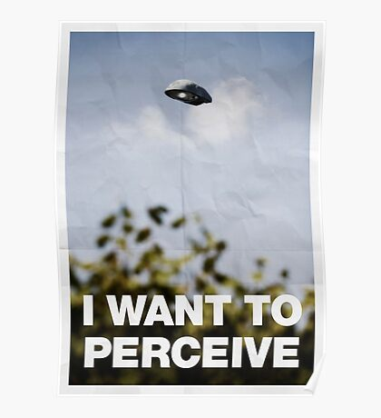 I Want To Perceive Poster