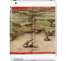 Cascais Vintage map.Geography Portugal ,city view,building,political,Lithography,historical fashion,geo design,Cartography,Country,Science,history,urban iPad Case/Skin