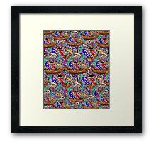 Human Donut Sprinkles Pattern Framed Print