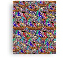 Human Donut Sprinkles Pattern Canvas Print