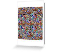 Human Donut Sprinkles Pattern Greeting Card