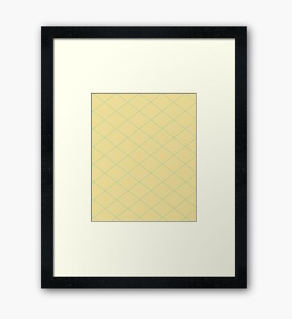Yellow wallpaper Framed Print