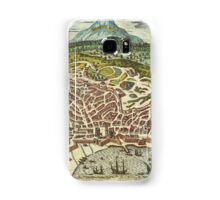 Catania Vintage map.Geography Italy ,city view,building,political,Lithography,historical fashion,geo design,Cartography,Country,Science,history,urban Samsung Galaxy Case/Skin