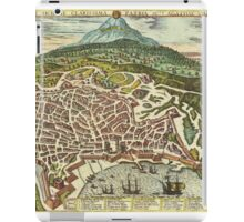 Catania Vintage map.Geography Italy ,city view,building,political,Lithography,historical fashion,geo design,Cartography,Country,Science,history,urban iPad Case/Skin