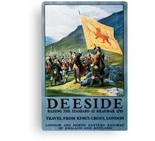 Deeside, British Travel Poster Canvas Print