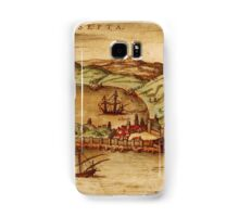 Ceuta Vintage map.Geography Spain ,city view,building,political,Lithography,historical fashion,geo design,Cartography,Country,Science,history,urban Samsung Galaxy Case/Skin