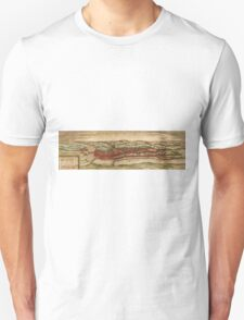 Cheb Vintage map.Geography Czech Republic ,city view,building,political,Lithography,historical fashion,geo design,Cartography,Country,Science,history,urban Unisex T-Shirt