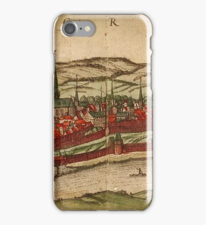 Cheb Vintage map.Geography Czech Republic ,city view,building,political,Lithography,historical fashion,geo design,Cartography,Country,Science,history,urban iPhone Case/Skin