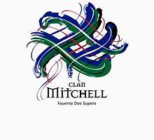 Clan Mitchell - Prefer your gift on Black/White tell us at info@tangledtartan.com  Unisex T-Shirt