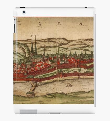 Cheb Vintage map.Geography Czech Republic ,city view,building,political,Lithography,historical fashion,geo design,Cartography,Country,Science,history,urban iPad Case/Skin