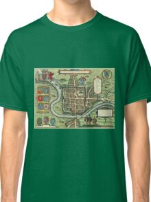 Chester Vintage map.Geography Great Britain ,city view,building,political,Lithography,historical fashion,geo design,Cartography,Country,Science,history,urban Classic T-Shirt