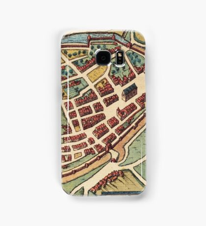 Chimay Vintage map.Geography Belgium ,city view,building,political,Lithography,historical fashion,geo design,Cartography,Country,Science,history,urban Samsung Galaxy Case/Skin