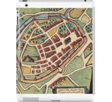 Chimay Vintage map.Geography Belgium ,city view,building,political,Lithography,historical fashion,geo design,Cartography,Country,Science,history,urban iPad Case/Skin