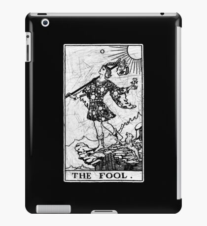 The Fool Tarot Card - Major Arcana - fortune telling - occult iPad Case/Skin