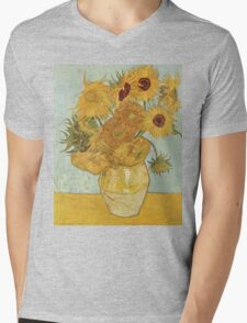 Sunflowers by Vincent Van Gogh Mens V-Neck T-Shirt