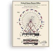 Amusement Ride Patent Canvas Print
