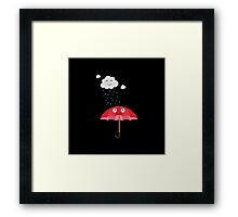 Rain cloud and umbrella   Framed Print